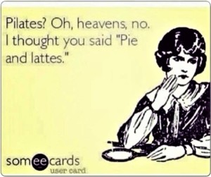 Pilates Pie and lattes